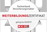 Thomas Hartmann, unabhängiger Versicherungsmakler, Feldkirch, Weiterbildung, WKO, Zertifikat